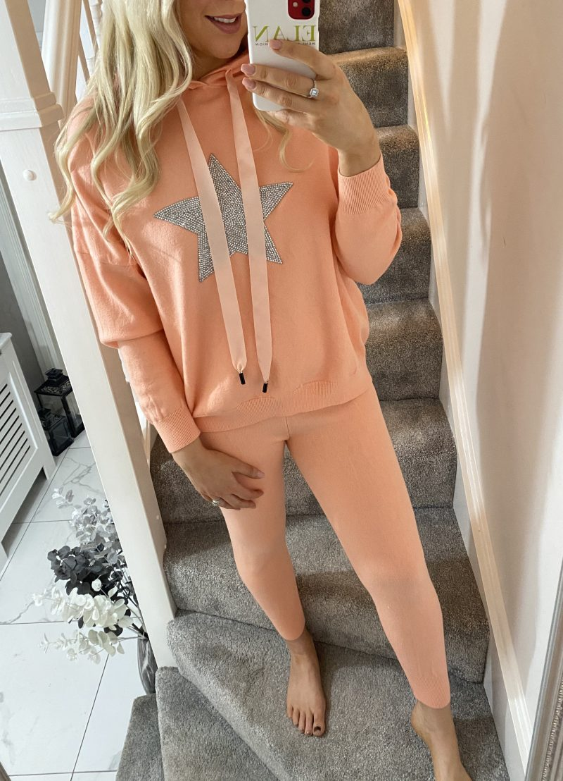 peach lounge suit xx